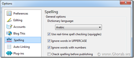spell check dictionary