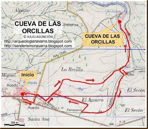 Mapa Cueva de las Orcillas