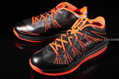 nike lebron 10 low gr black orange 2 01 Nike Air Max LeBron X Low Black / Orange (579765 001)