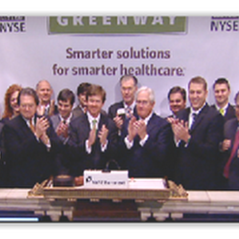 Greenway Medical Records IPO–Videos and Pictures at NYSE Getting Old as Hospitals and Doctors Struggle for Income And Close
