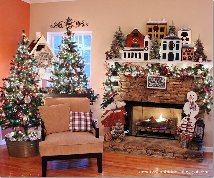 Christmas Mantel and Christmas Tree