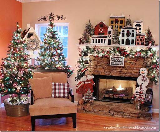 Christmas Mantel And Christmas Tree Part 89