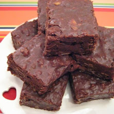 Choc- Almond Fudge Squares
