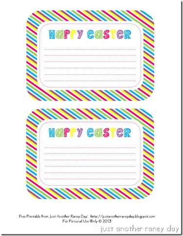 Free Happy Easter Printable #justanotherraneyday