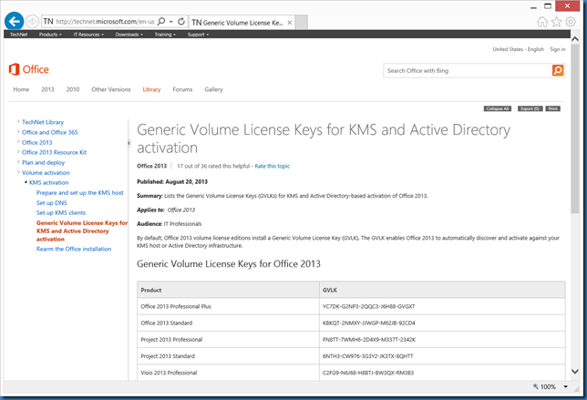 kms office 2013 activation key