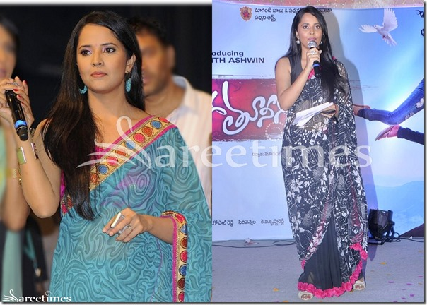 Anasuya_Printed_Saree