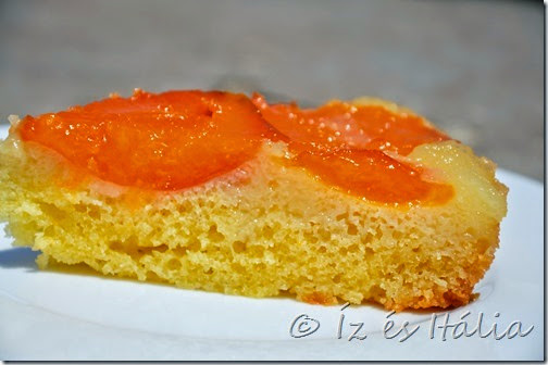 Sargabarackos torta