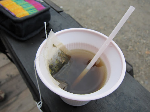 Coca tea we warmed up with before making the ascent