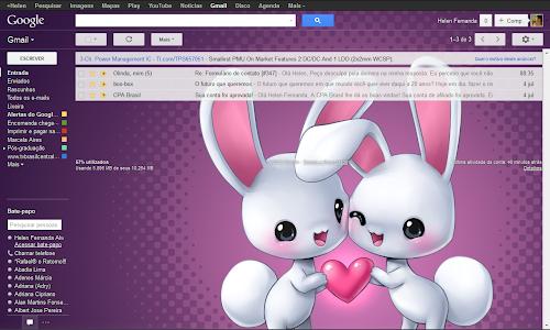 Tema personalizado Luz do Gmail