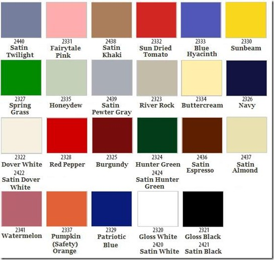 Fusion_Spray Color Chart