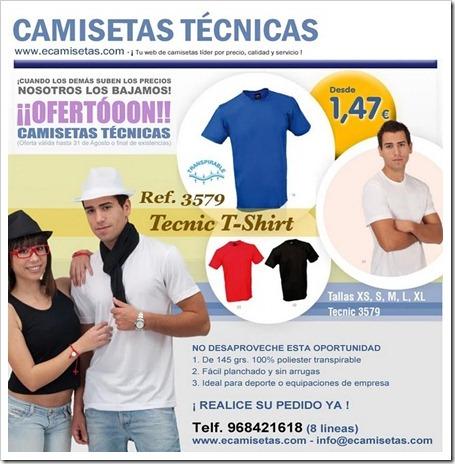 Camisetas Técnicas en ECAMISETAS.COM