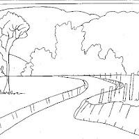desenhos de paisagem para colorir colorir e aprender