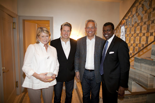 Martha, Mark and James of Badgley Mischka, and Mark