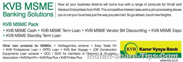 Karur Vysya Bank (KVB) MSME Banking Solutions