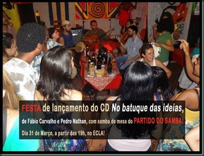 ECLA-LANÇAMENTO DO CD NO BATUQUE NAS IDÉIAS