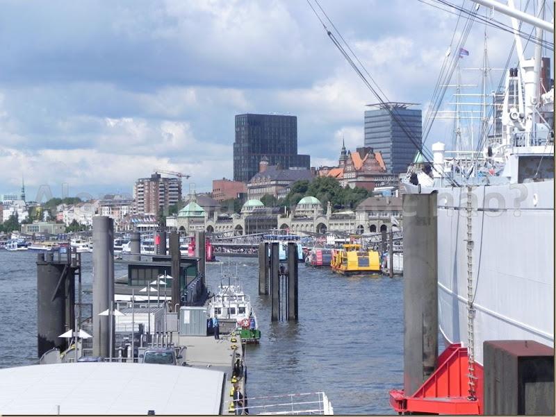 O porto de Hamburgo