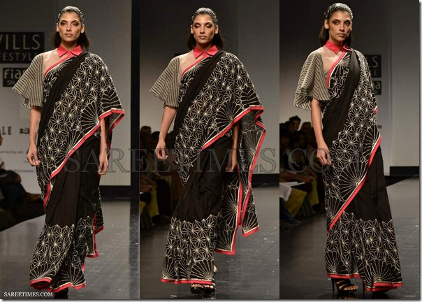 Rahul_Mishra_Black_Saree