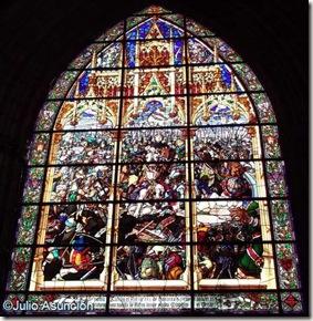 Vidriera de la Batalla de las Navas de Tolosa - Año 1.906