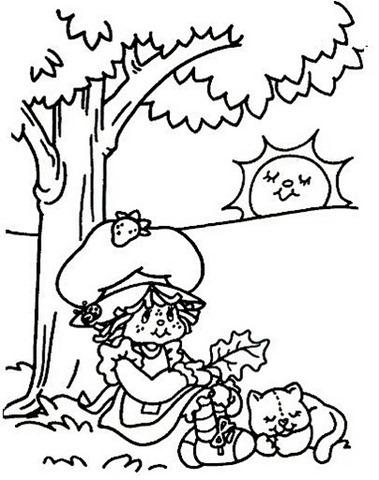 2 Desenho da Moranguinho para colorir