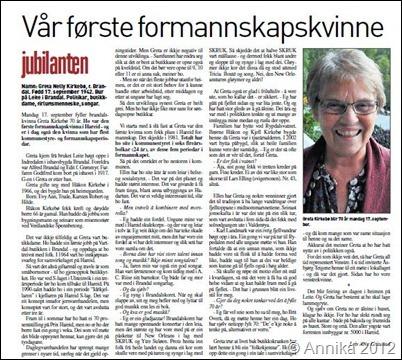 eldre dame Ulsteinvik