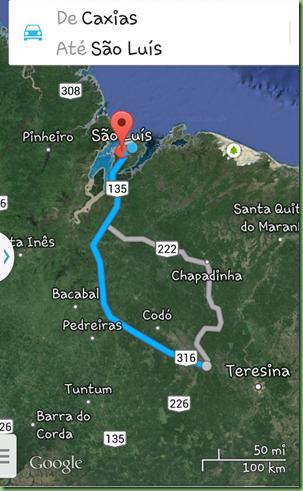 Caxias a São Luis