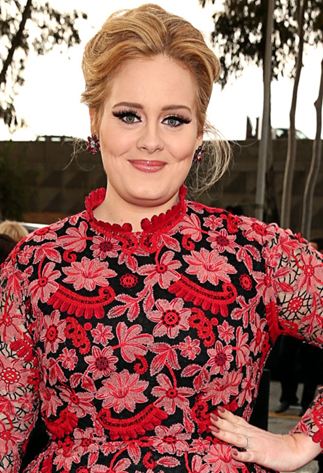 Adele wears OPI at the 2013 Grammys