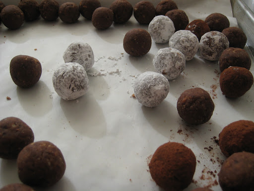 These decadent chocolate truffles are rich and tender. Make sure to measure the chocolate for the recipe by weight and not volume for proper texture.