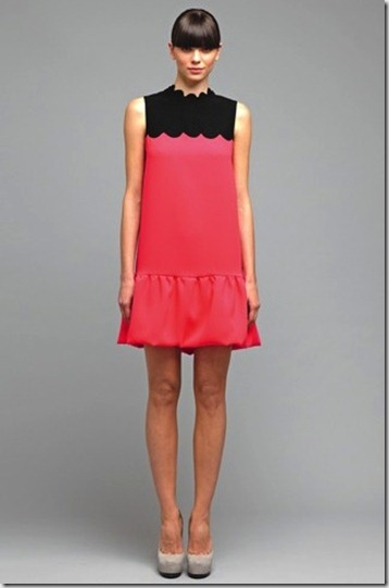 Victoria-by-Victoria-Beckham-Spring-2012-Pink-black-color-block-dress