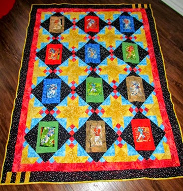 1411206 Nov 25 Mack Football Quilt