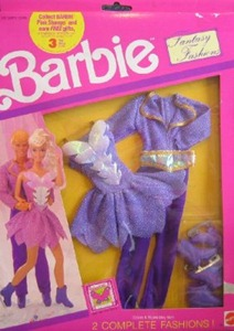 Barbie Fantasy Fashions Ice Skating Outfits For Ken & Barbie Dolls (1990)