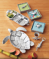 Napkin Boxes $48.00  Bottle Openers $32.00 Turtle Server $