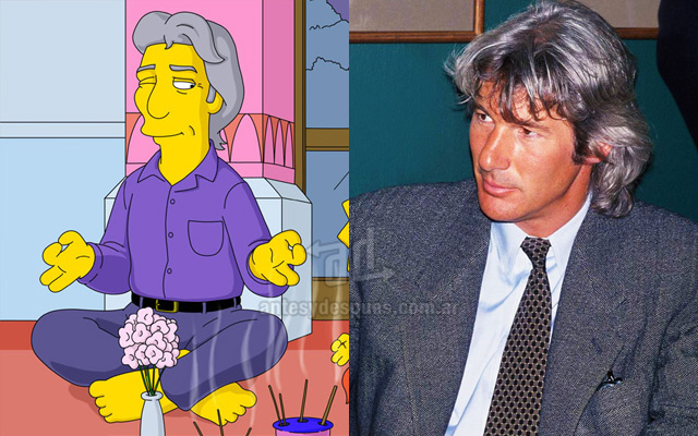 Foto de la version Simpson de Richard Gere