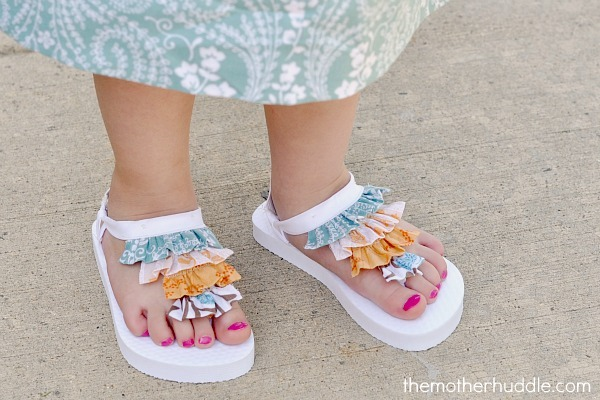ruffle sandals tutorial