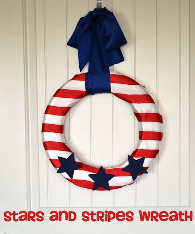 57 star and stripe wreath
