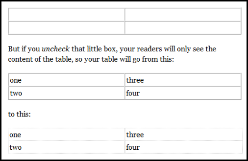 livewriter tables