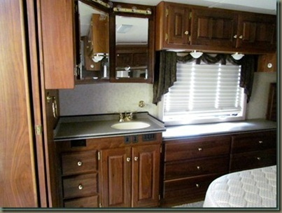 monaco Motor home bedroom