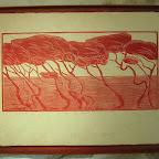 """""""Jour de Mistral """" pins dans les calanques  imprimé sur papier Himalaya  Tout encadré sans verre       400€"""
