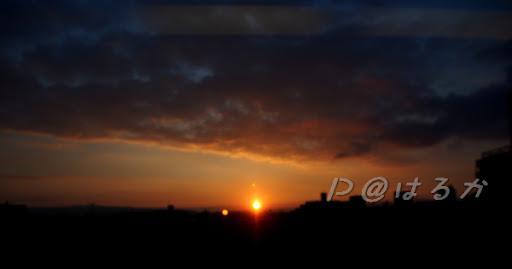 在 はるか 上看到的日出