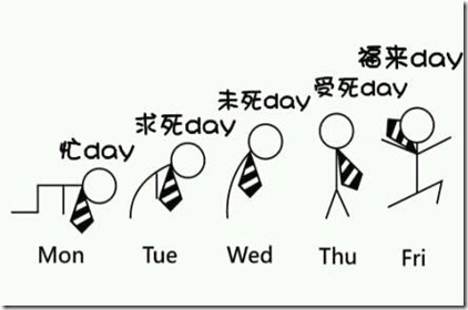 days of the week pun in chinese