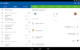 Screenshot of SofaScore LiveScore