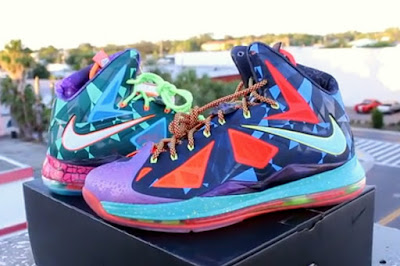nike lebron 10 pe what the mvp 5 08 NIKE LEBRON X What the MVP   Pics & Video Review