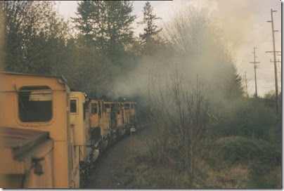 56154116-15 Riding the Weyerhaeuser Woods Railroad (WTCX) at Longview, Washington on May 17, 2005