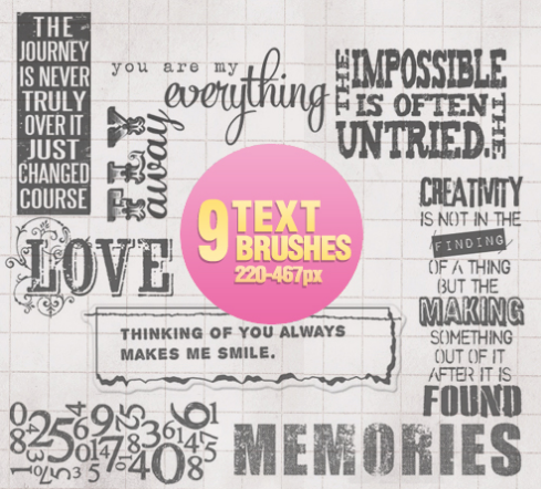 photoshop text brushes