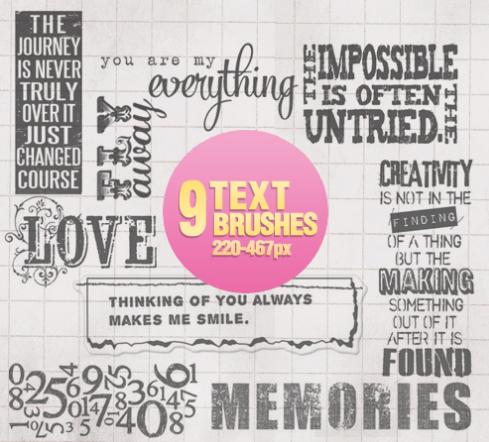 photoshop text brushes