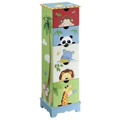 Teamson 5 Drawer Cabinet Sunny Safari Design 350