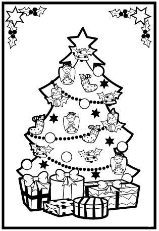Arbol de navidad for Arbol navideno para colorear