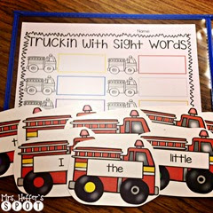 We are starting sight word centers this week. Draw a card and have to write the sight word.