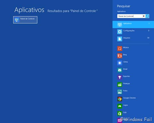 Acessando o Painel de Controle no Windows 8