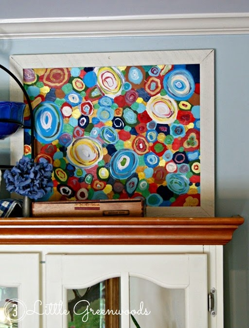 painted abstract painting