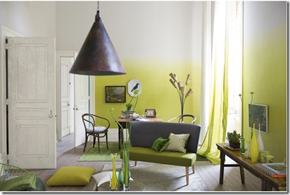Dip dye ombre walls- YELLOW via poppytalk